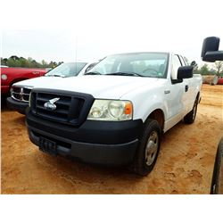 2008 FORD F150 PICKUP, VIN/SN:1FTRF12W18KC86891 - EXT CAB, GAS ENGINE, A/T(UTILITY COMPANY OWNED)