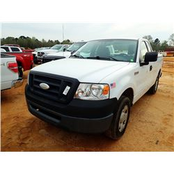 2007 FORD F150 PICKUP, VIN/SN:1FTRF12267KB72634 - EXT CAB, GAS ENGINE, A/T, ODOMETER READING 128,251