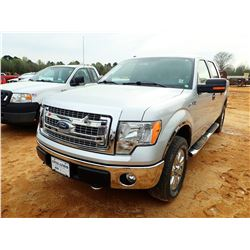 2013 FORD F150 PICKUP, VIN/SN:1FTFW1EF9DKE59811 - 4X4, CREW CAB, GAS ENGINE, A/T, ODOMETER READING 8