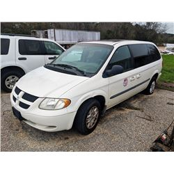 2002 DODGE CARAVAN VIN/SN:2B4GP44342R728304 - GAS ENGINE, A/T (CITY OWNED) (SELLING OFFSITE, LOCATED