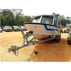 SEA ARK PATROL BOAT, VIN/SN:SAMA0656D696 - 18' LENGTH, ALUM, C/W 1996 EZ LOADER BOAT TRAILER S/N 1ZE
