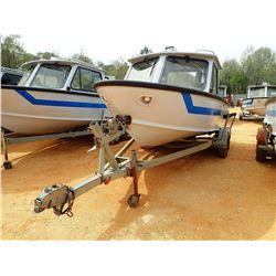 SEA ARK PATROL BOAT, VIN/SN:SAMA0789K696 - 18' LENGTH, ALUM, C/W 1996 EZ LOADER BOAT TRAILER S/N 1ZE