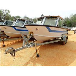 SEA ARK PATROL BOAT, VIN/SN:SAMA0812B797 - 18' LENGTH, ALUM, C/W 1996 EZ LOADER BOAT TRIALER, S/N 1Z