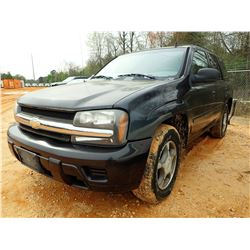 2006 CHVROLET TRAIL BRAZER VIN/SN:1GNDS13S562342465 - GAS ENGINE, A/T, ODOMETER READING 155,300 MILE