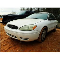 2005 FORD TAURUS SE VIN/SN:1FAFP53U85A260896 - V-6 ENGINE, AUTO (STATE OWNED)