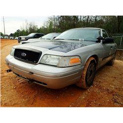 2004 FORD POLICE INTERCEPTOR, VIN/SN:2FAHP71WX4X160653 - V-8 ENGINE, AUTO, ODOMETER READING 223,091
