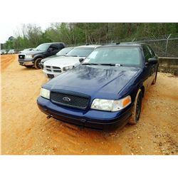 2003 FORD CROWN VICTORIA VIN/SN:2FAHP71W03X210748 - V-8 ENGINE, AUTO, ODOMETER READING 131,846 MILES