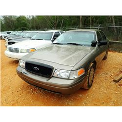 2005 FORD CROWN VICTORIA VIN/SN:2FAHP71WX5X175686 - V-8 ENGINE, AUTO, ODOMETER READING 240,603 MILES