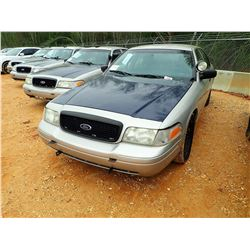 2006 FORD POLICE INTERCEPTOR, VIN/SN:2FAHP71W96X147220 - V-8 ENGINE, AUTO (STATE OWNED)