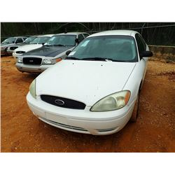 2005 FORD TAURUS SE VIN/SN:1FAFP53U35A260871 - V6 ENGINE, AUTO (STATE OWNED)