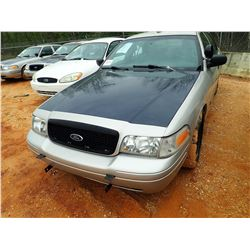 2010 FORD POLICE INTERCEPTOR, VIN/SN:2FABP7BV9AX106607 - V-8 ENGINE, AUTO (STATE OWNED)