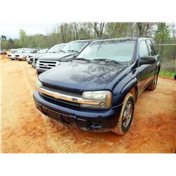 2008 CHEVROLET TRAILBLZER SUV, VIN/SN:1GNDS13S582252560 - V8 ENGINE, A/T, ODOMETER READING 166,820 M