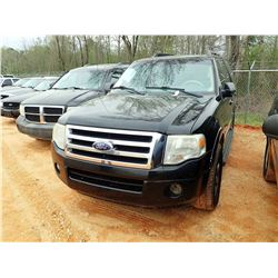 2008 FORD EXPEDITION SUV, VIN/SN:1FMFU15508LA67342 - V8 ENGINE, A/T, ODOMETER READING 213,732 MILES