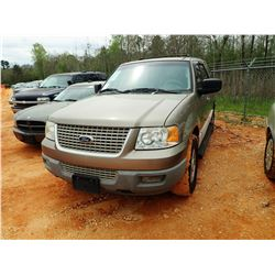 2003 FORD EXPDEDITION SUV, VIN/SN:1FMPU15L53LB98018 - V8 ENGINE, A/T, ODOMETER READING 170,569 MILES