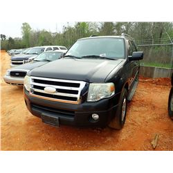 2007 FORD EXPEDITION, VIN/SN:1FMFU15597LA62834 - V8 GAS ENGINE, A/T, ODOMETER READING 208,049 MILES