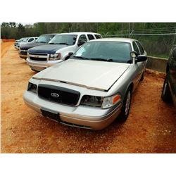 2008 FORD POLICE INTERCEPTOR, VIN/SN:2FAHP71V18X159596 - V8 ENGINE, A/T (STATE OWNED)