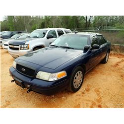 2008 FORD POLICE INTERCEPTOR, VIN/SN:2FAHP71V58X158208 - V-8 ENGINE, A/T, ODOMETER READING 140,964 M