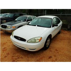 2005 FORD TAURUS SE VIN/SN:1FAFP53UX5A309306 - V-6 ENGINE, A/T (STATE OWNED)