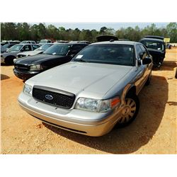 2008 FORD POLICE INTERCEPTOR, VIN/SN:2FAHP71V08X161033 - V8 ENGINE, A/T (STATE OWNED) (DOES NOT OPER