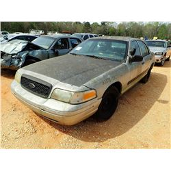 2002 FORD CROWN VICTORIA VIN/SN:2FAFP71W22X130437 - V8 ENGINE, A/T, (STATE OWNED) (DOES NOT OPERATE)