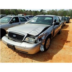 2009 FORD POLICE INTERCEPTOR, VIN/SN:2FAHP71VX9X143379 - V8 ENGINE, A/T (STATE OWNED) (DOES NOT OPER