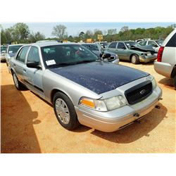2006 FORD POLICE INTERCEPTOR, VIN/SN:2FAHP71W76X147216 - V-8 ENGINE, A/T (DOES NOT OPERATE) (STATE O