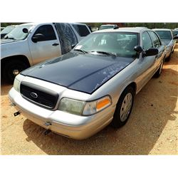 2010 FORD POLICE INTERCEPTOR, VIN/SN:2FABP7BV1AX106617 - V8, A/T (DOES NOT OPERATE) (STATE OWNED)