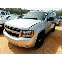2013 CHEVROLET POLICE INTERCEPTOR, VIN/SN:1GNLC2E02DR256013 - V8, A/T (DOES NOT OPERATE) (STATE OWNE