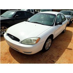 2005 FORD TAURUS VIN/SN:1FAFP53U05A260889 - V-6 ENGINE, A/T (DOES NOT OPERATE) (STATE OWNED)