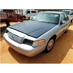 2001 FORD CROWN VICTORIA VIN/SN:2FAFP71W11X183497 - V-8 ENGINE, A/T, ODOMETER READING 128,707 MILES