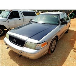 2004 FORD POLICE INTERCEPTOR, VIN/SN:2FAHP71W94X160689 - V-8 ENGINE, A/T, ODOMETER READING 194,039 M