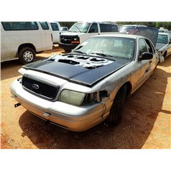 2011 FORD CROWN VICTORIA POLICE INTERCEPTOR, VIN/SN:2FABP7BV5BX101096 - V8, AUTO (DOES NOT OPERATE)