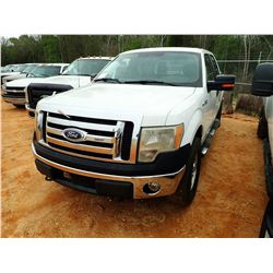 2010 FORD F150XL PICKUP, VIN/SN:1FTFW1EV8AFD48937 - 4X4, CREW CAB, V8 GAS, A/T, ODOMETER READING 332