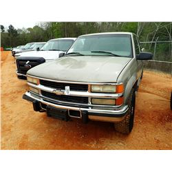 1999 CHEVROLET 2500 PICK UP, VIN/SN:1GCGK29F6XF050081 - 4X4, EXTENDED CAB, DIESEL ENGINE, A/T, ODOME