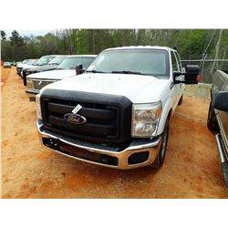 2012 FORD F350 PICKUP, VIN/SN:1FT8W3A62CED22376 - 4X4, CREW CAB, V8 GAS ENGINE, A/T, ODOMETER READIN