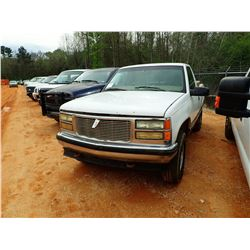 1998 GMC 1500 Z71 PICKUP, VIN/SN:1GTEK14R9WZ501780 - 4X4, GAS ENGINE, A/T, ODOMETER READING 317,578
