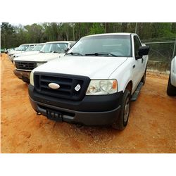 2008 FORD F150 PICKUP, VIN/SN:1FTRF14W98KE70635 - 4X4, EXT CAB, GAS ENGINE, A/T, ODOMETER READING 17