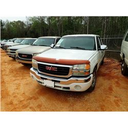 2007 GMC 1500 PICKUP, VIN/SN:2GTEC13V771102372 - CREW CAB, GAS ENGINE, A/T, ODOMETER READING 338,135