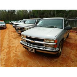 1996 CHEVROLET 1500 PICKUP, VIN/SN:2GCEC19RXT1150209 - EXT CAB, GAS ENGINE, A/T, ODOMETER READING 14