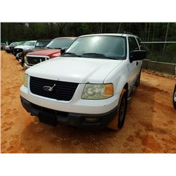 2006 FORD EXPEDITION SUV, VIN/SN:1FMPU16556LA53842 - 4X4, GAS ENGINE, A/T, ODOMETER READING 234,768