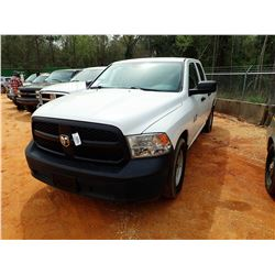 2014 DODGE RAM 1500 PICKUP, VIN/SN:1C6RR6FGXES350372 - EXT CAB, V6 GAS, A/T, ODOMETER READING 115,01