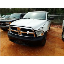 2011 DODGE RAM 1500 PICK UP, VIN/SN:LD7RV1CP9BS687533 - 4X4, CREW CAB, V8 GAS ENGINE, A/T, ODOMETER