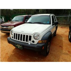 2007 JEEP LIBERTY VIN/SN:1J4GK48KX7W680285 - GAS ENGINE, A/T, ODOMETER READING 184,404 MILES