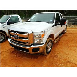 2013 FORD F250 PICK UP, VIN/SN:1FT7X2A6XDEH43729 - EXTENDED CAB, V8 GAS ENGINE, A/T, REAR LIFT, ODOM
