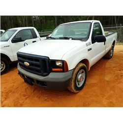 2006 FORD F250 PICKUP, VIN/SN:1FTNF20566EA59884 - GAS ENGINE, A/T, ODOMETER READING 303,846 MILES(CO