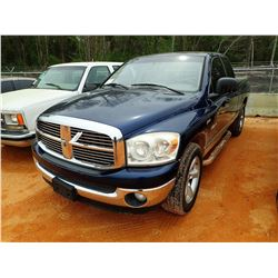 2008 DODGE 1500 PICK UP, VIN/SN:1D7HA18228J174594 - GAS, A/T, ODOMETER READING 149,853 MILES(COUNTY