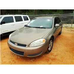 2007 CHEVROLET IMPALA VIN/SN:2G1WB58K279242687 - GAS ENGINE, A/T, ODOMETER READING 68,663 MILES (COU