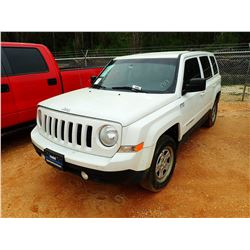 2014 JEEP PATRIOT VIN/SN:1C4NJRBB2ED659073 - GAS ENGINE, A/T, ODOEMETER READING 113,555 MILES (COUNT