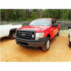 2012 FORD F150XL PICKUP, VIN/SN:1FTFW1ET8CKD70493 - 4X4, CREW CAB, V6 GAS ENGINE, A/T, ODOMETER READ