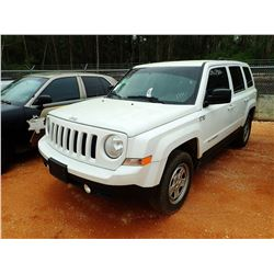 2014 JEEP PATRIOT VIN/SN:1C4NJRBB7ED657070 - GAS ENGINE, A/T (COUNTY OWNED)